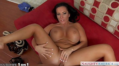 Busty brunette Richelle Ryan riding cock