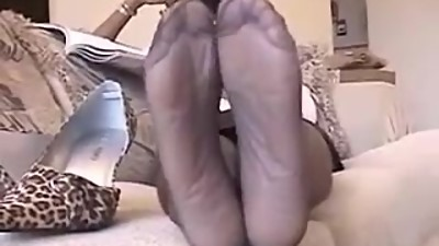 mature ebony nylon soles