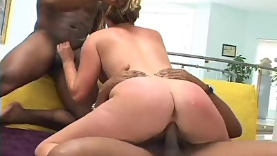 hot blonde interracial porn threesome..
