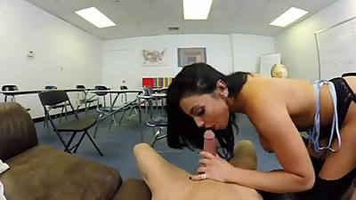 Audrey Bitoni and her favorite student..