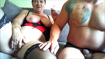 Chubby smoking mature couple