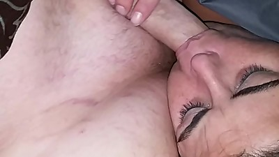 She fell asleep while sucking my cock