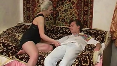 Russian mature Luna and young boy 5