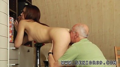 Milf creampie and old doctor young..