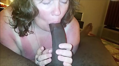 Old Housewife Sucking on a Big Black..
