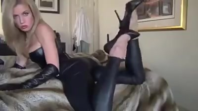 Leather Foot Tease JOI