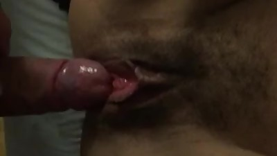 Using my cock to make her squirt..