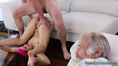 Grace friend's daughter anal threesome..