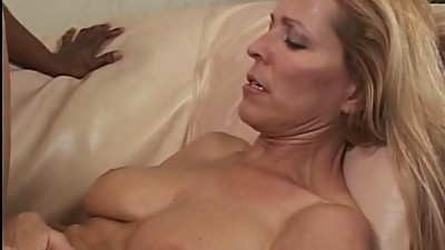 Blonde slut loves getting titty fucked..