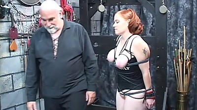A thick red-headed slut gets nice her..