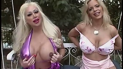 Sexy blonde gets huge tits fucked by..