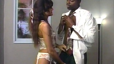 Ebony doctor gives hot chick in..