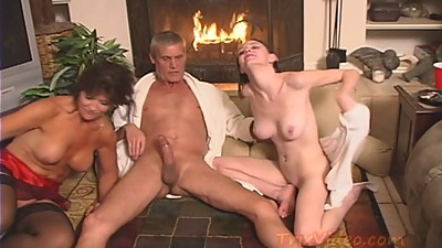 Fucking a HOT MILF and a HORNY TEEN