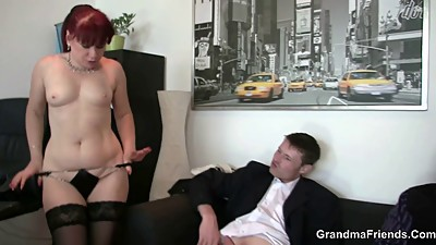 Office bitch swallows two dicks