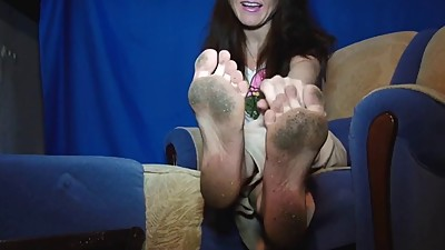 Dirty white mature feet