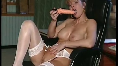 milf plays with toy