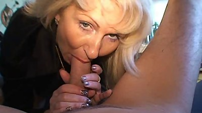 Blond German Milf - Fucks a Guy with..