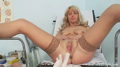 Mature Jirina With Her Legs Wide Open..