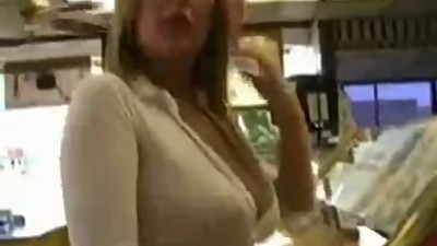 Naughty MILF Flashing In Public