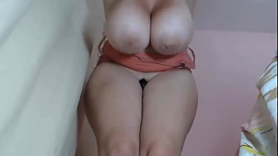 Milf with massive boobs quivering and..