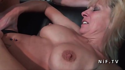 French mature cougar banged hard by a..