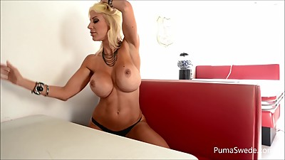 Euro babe Puma Swede Gets Off With..