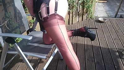 Latex & layered in nylons and..