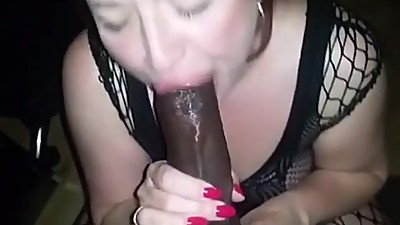 Milf choking on bbc