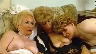 Three hairy grannies playing with each..