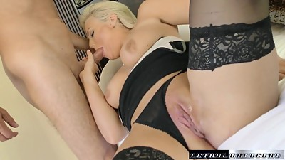 MILF Katy fucks her way to a carloan..