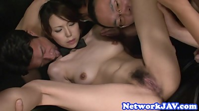 Orally pleasured asian milf enjoys..