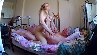 Russian milf ride in cock