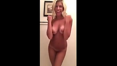 Blonde MILF babe asshole fingering