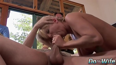 Cougar Sucks & Fucks a Stud While..
