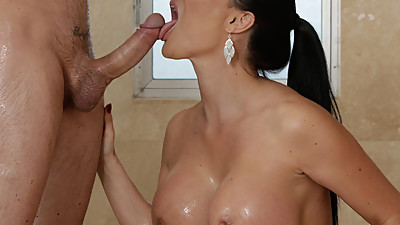 Jasmine Jae fucks her husband's..