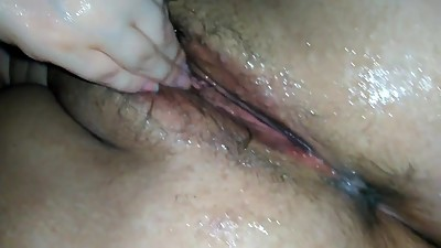 Wet n slippery pussy and ass