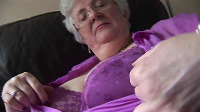 Granny with massive boobs upskirt no..