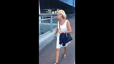 Candid Mature GILF White See-through..
