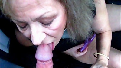 Pretty Mature Wife Sucks Cock Through..